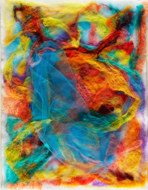 "Teresa Viana, Series 2-1, 2017, Sheep wool felt, 20"" x 13.8"""
