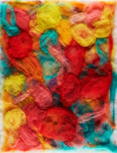 "Teresa Viana, Series 2-4, 2017, Sheep wool felt, 20"" x 13.8"""