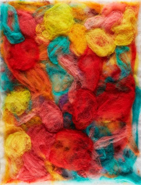 "Teresa Viana, Series 2-4, 2017, Sheep wool felt, 20"" x 13.8"""
