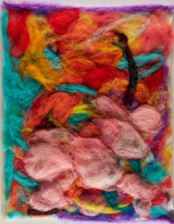 "Teresa Viana, Series 2-5, 2017, Sheep wool felt, 20"" x 13.8"""