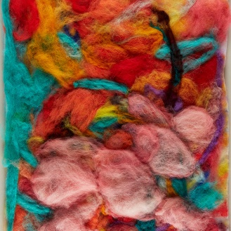 "Teresa Viana, Series 2-5, 2017, Sheep wool felt, 20"" x 13.8"""