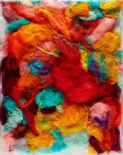 "Teresa Viana, Series 2-6, 2017, Sheep wool felt, 20"" x 13.8"""
